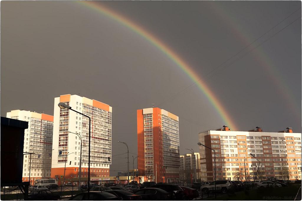 Двойная радуга над ЖК Юность © «Фото.дзен - NickFW.ru»