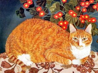 ginger cat by Mimi Vang Olsen