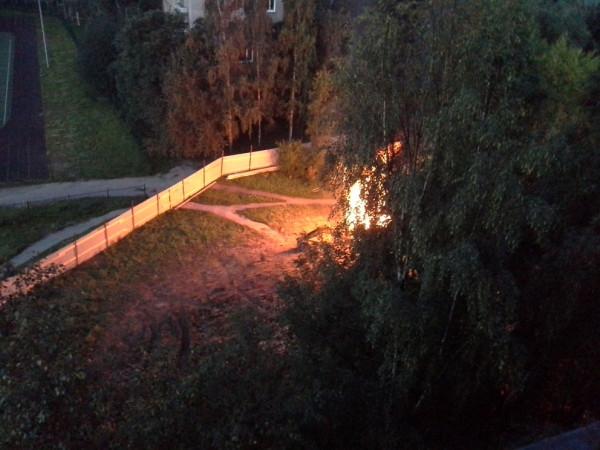 Пожар в Александрино 9 июля1