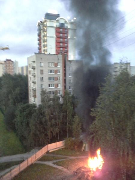 Пожар в Александрино 9 июля2