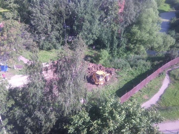Засыпка пруда 8 июля 2014-2