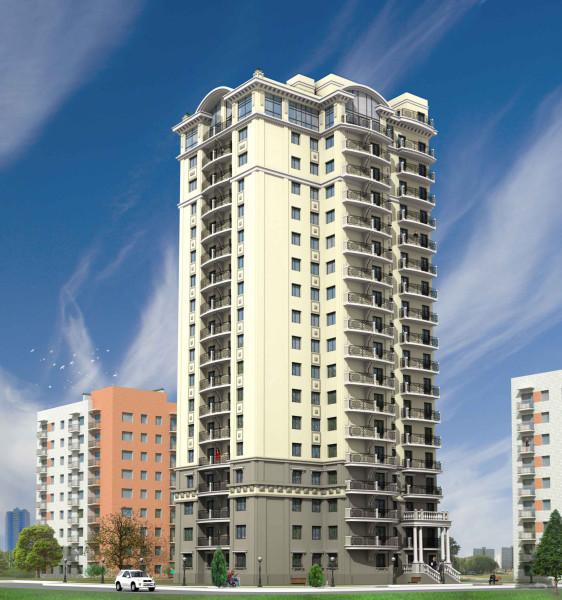 Проект 18ти этажного дома возводимого в настоящее время на участке 146