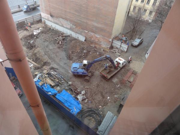 Начало строительных работ1