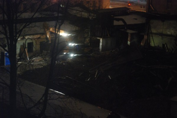 Снос лицевого корпуса по Кавалергардской 11.02.2014