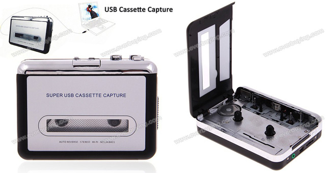 Portable Super USB Cassette Capture Convert Tapes to CD/MP3