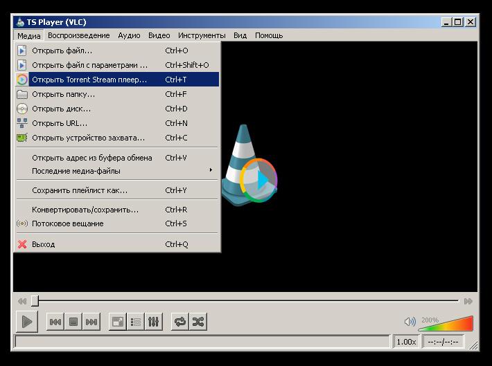 TS Player (VLC) для просмотра торрент-ТВ
