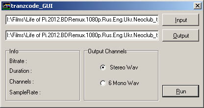 Tranzcode GUI