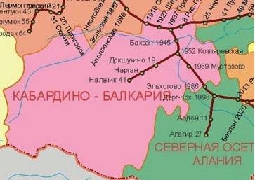 ж/д карта КБР