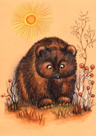 бурый медведь(илл. для сказки И,Истомина)