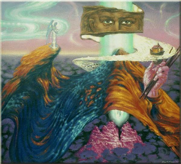 Автопортрет с Каложским храмом