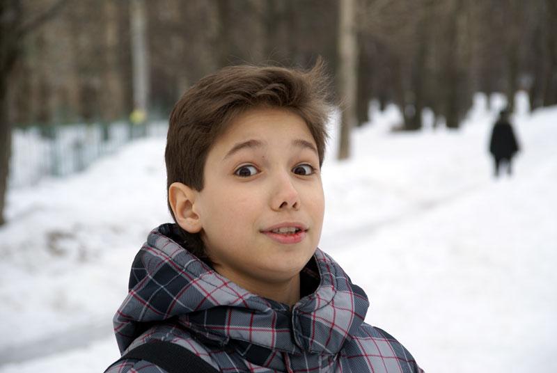 красивый мальчик лет 14: