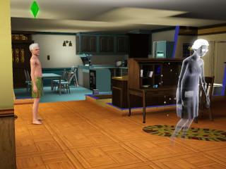 Elly haunts the living room.