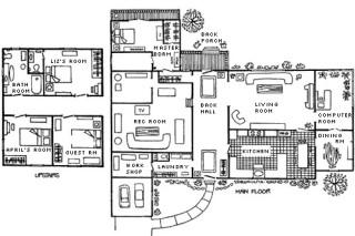 The Pattermanse - Lynn Johnston's stairless floor plan
