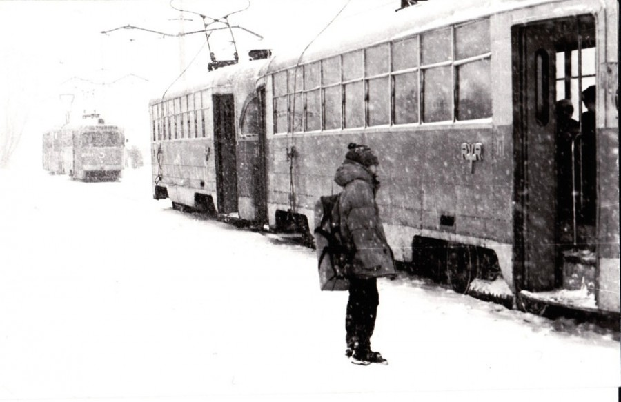 Зимний трамвай. Фото Р. Гареева.