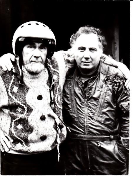 Равиль Гареев с летчиком-космонавтом Уралом Султановым. 1998 год