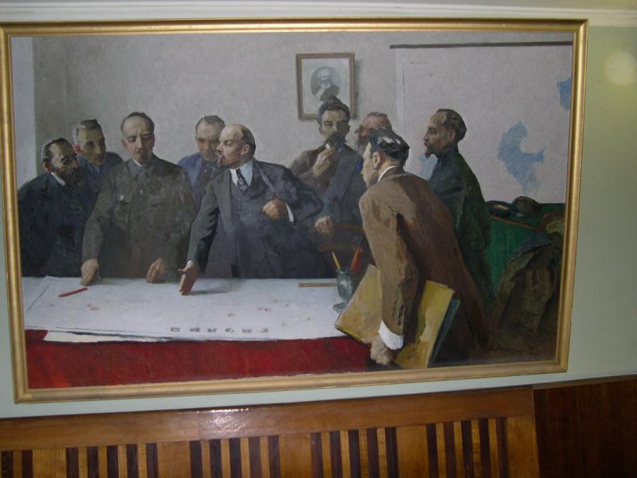 Ленин с соратниками над планом ГОЭЛРО