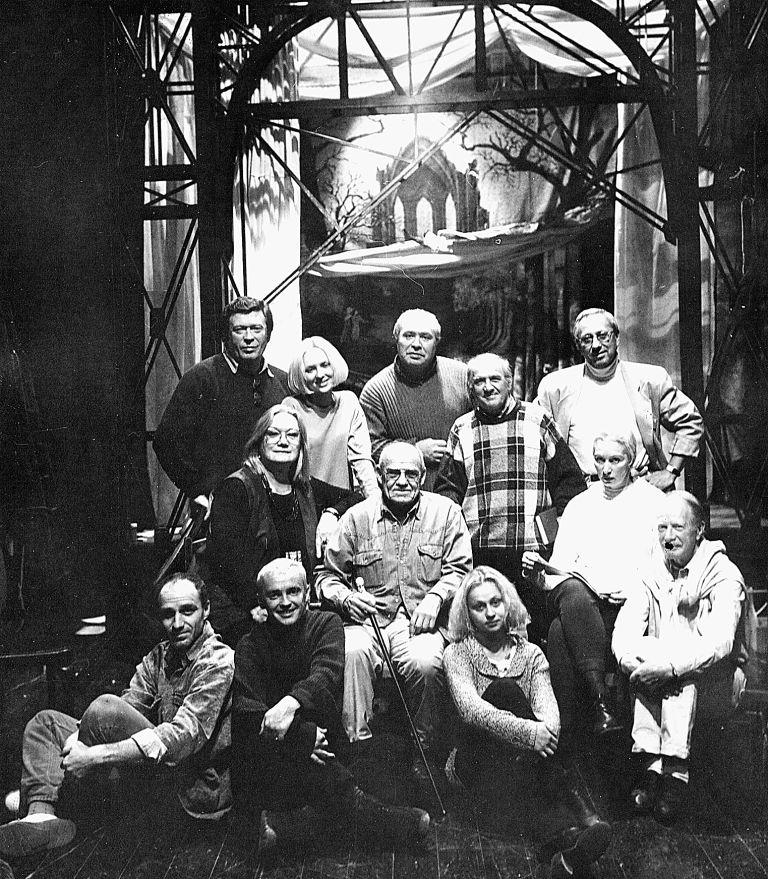 Участники спектакля «Чайка» в Театре современной пьесы.