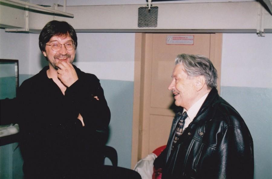 Юрий Шевчук с отцом Юлианом Сасфеновичем