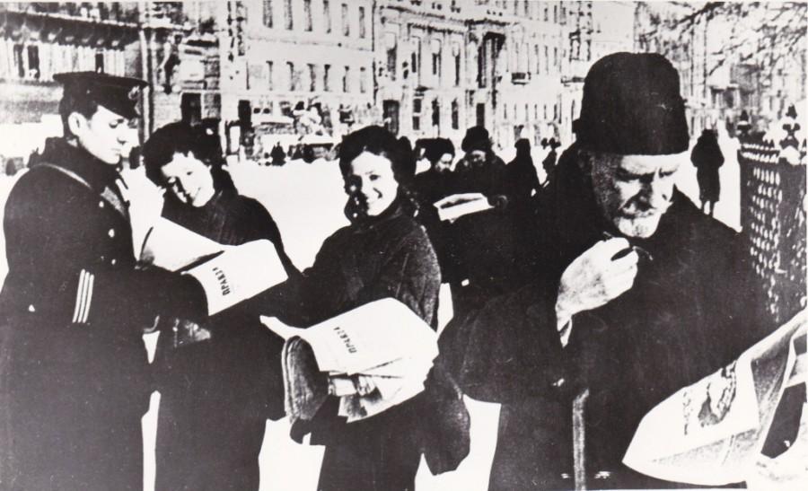 Газета о прорыве блокады Ленинграда