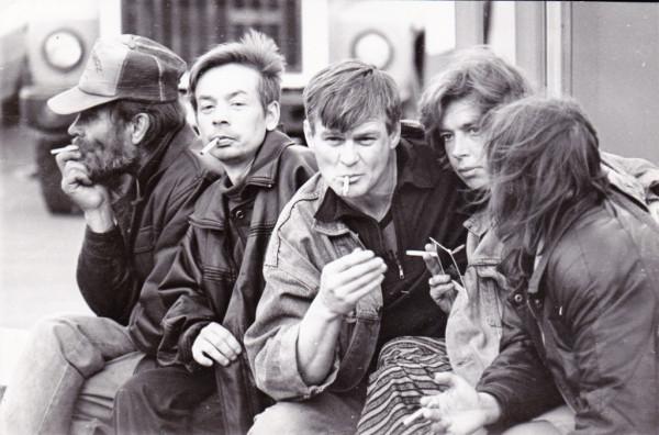 Московские бомжи. Фото в командировке. 1998 год.
