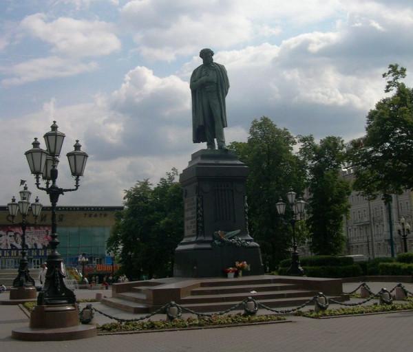 Памятник А.С. Пушкину на Тверской в Москве
