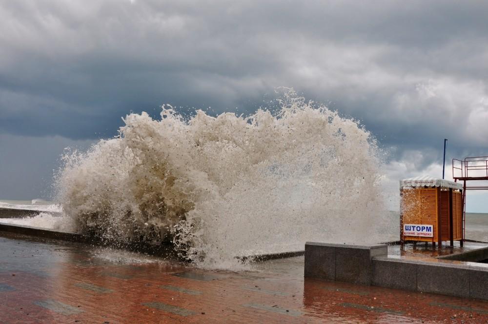 фото шторма в сочи