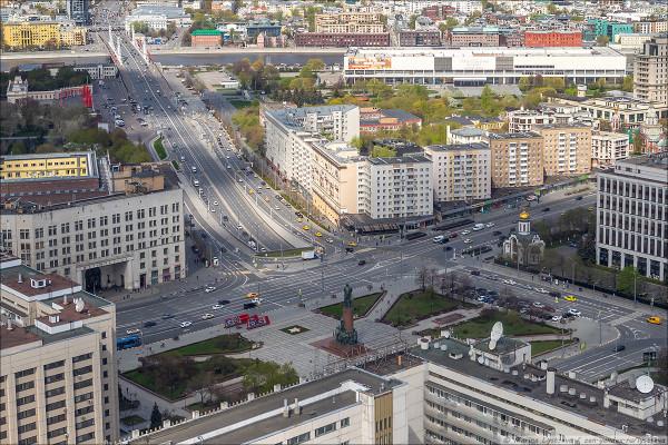 Виды Москвы от Калужской площади до Поклоной горы с вертолёта