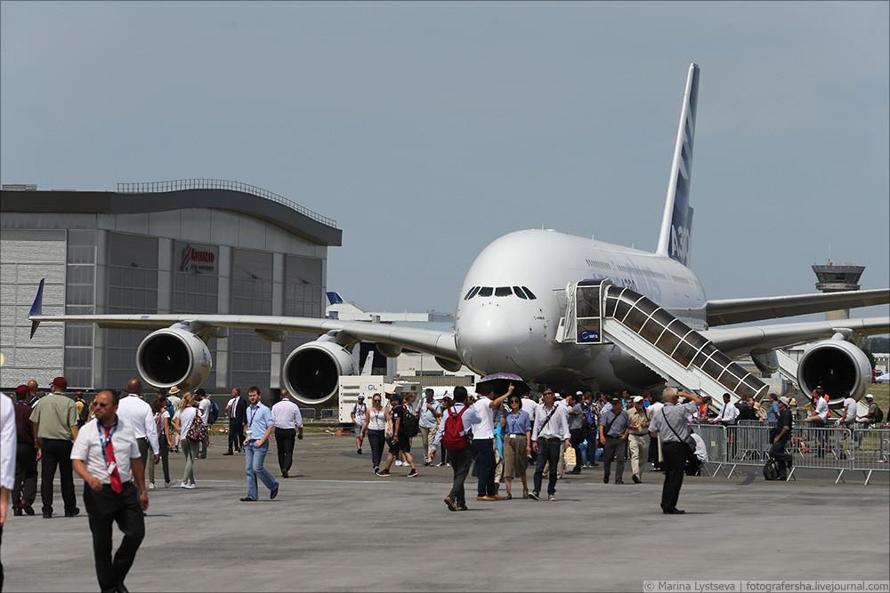 Обзор нового Airbus A380plus на авиасалоне в Ле-Бурже. Фото: Марина Лысцева