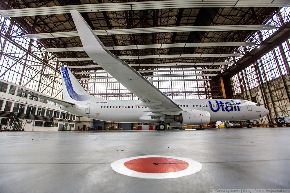 """Новая ливрея """"ЮТэйр"""": авиакомпания презентовала новый дизайн самолетов. Фото: Марина Лысцева"""
