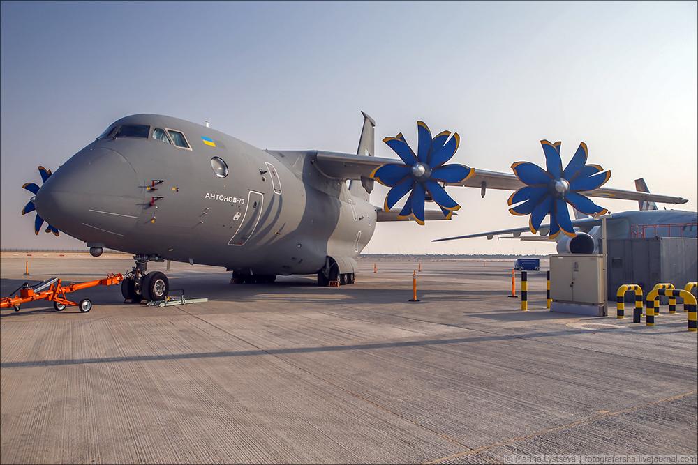 Украинская составляющая на Dubai AirShow-2017 An70_02