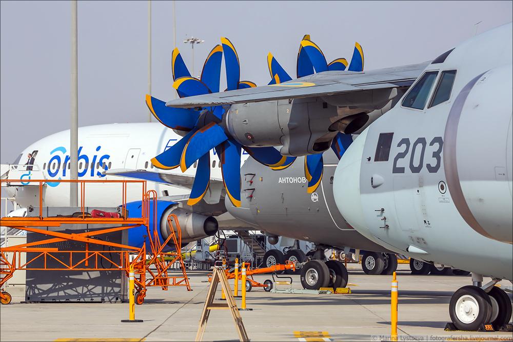 Украинская составляющая на Dubai AirShow-2017 An70_06