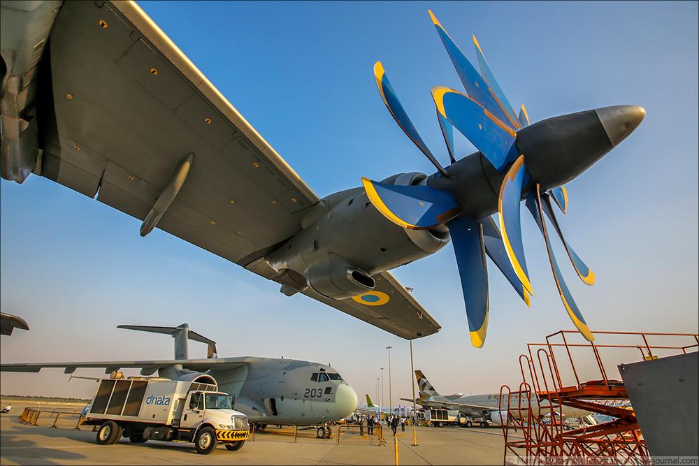 Украинская составляющая на Dubai AirShow-2017 An70_09
