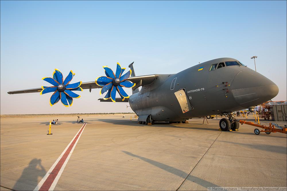 Украинская составляющая на Dubai AirShow-2017 An70_18