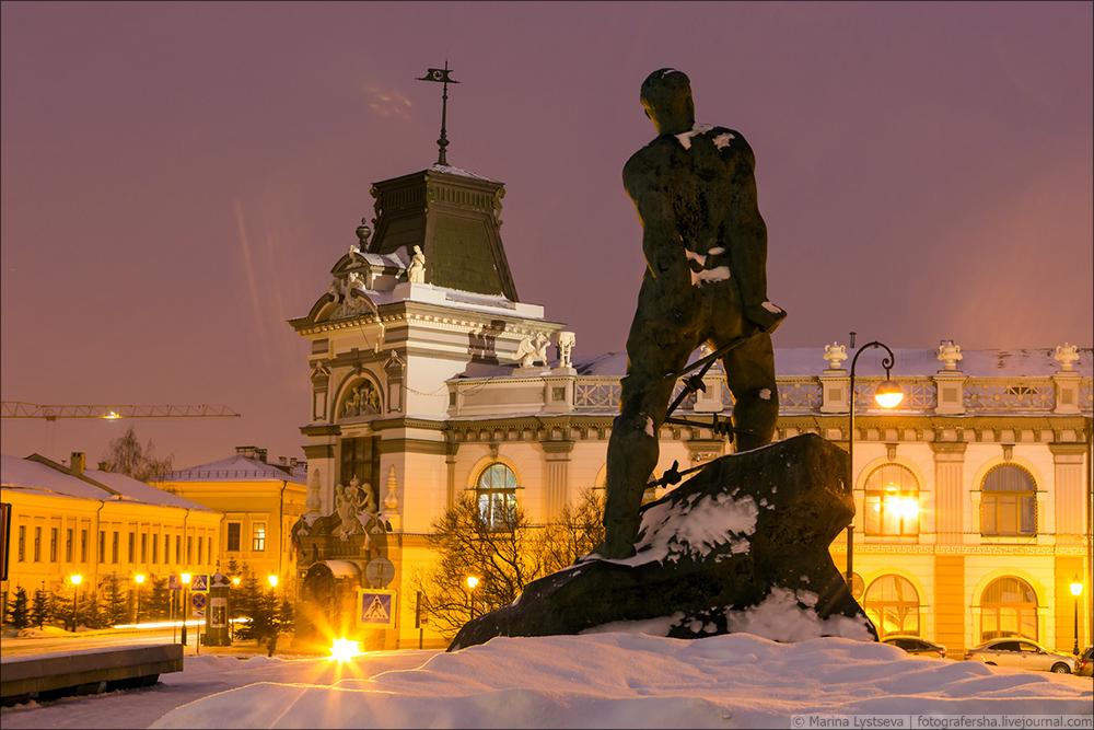 Сегодня в Казани Небольшая, прогулка, вокруг, около, Казанского, Кремля