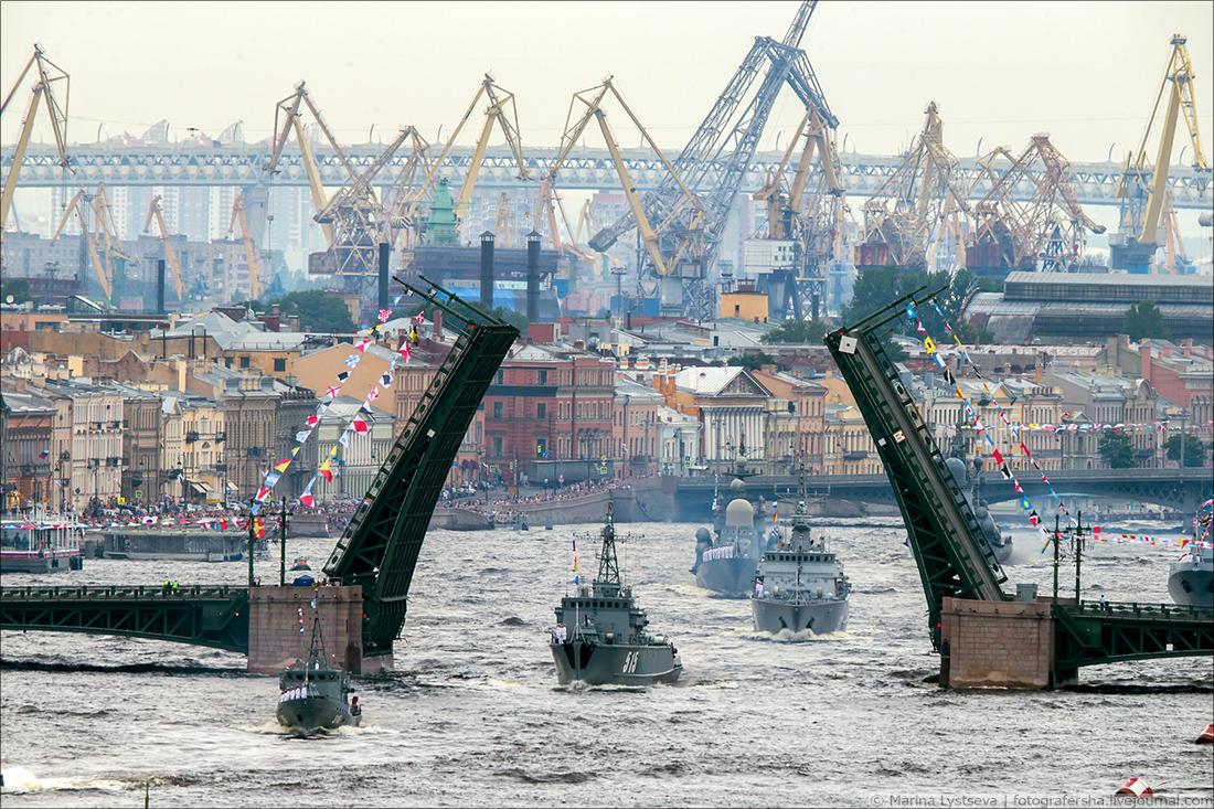 Генеральная репетиция парада ВМФ