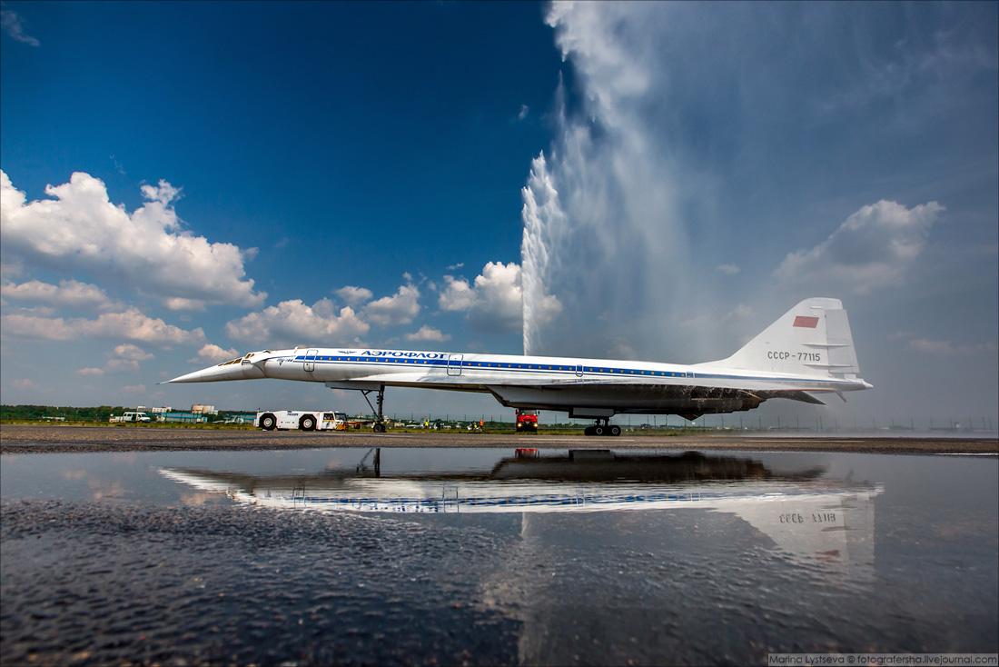 180804 Водная арка для Ту-144, Жуковский