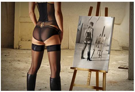 стилизация фото под живопись: