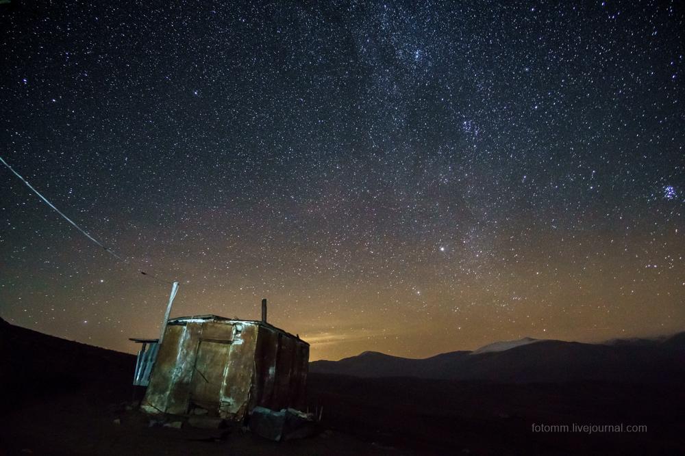 Армения. Ночь на перевале.