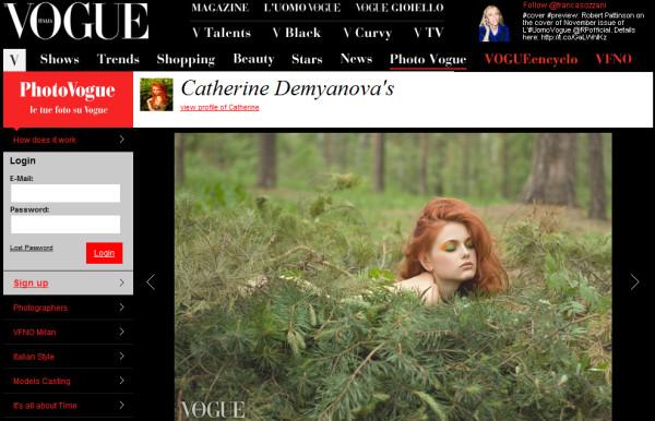 my photo in Vogue