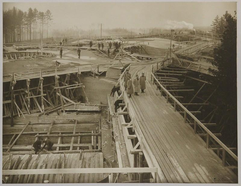 Подготовка опалубки под заливку погребов башенной батареи