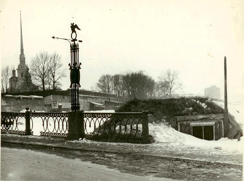 ДЗОТ у Иоанновского моста Петропавловской крепости. 1942-1943 гг.