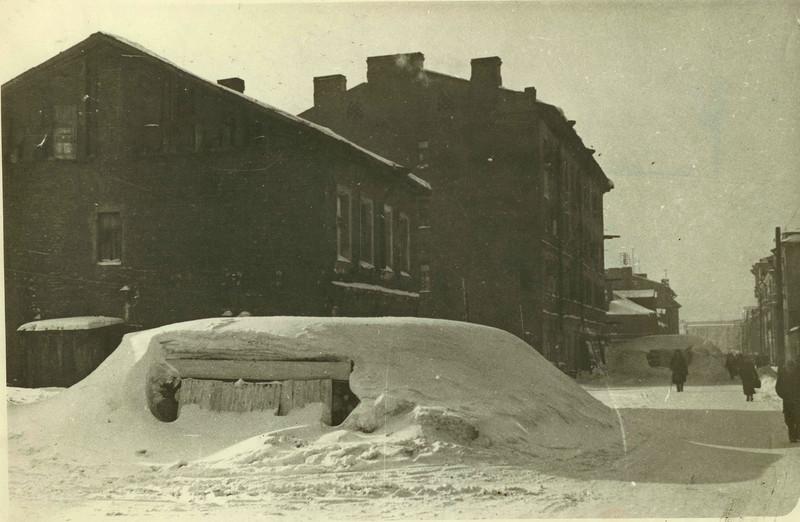 ДОТы на Балтийской улице. 1942 год.