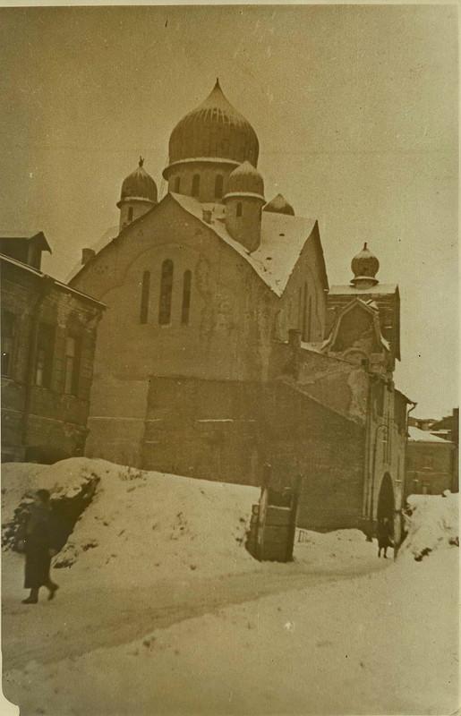 Баррикада на Воронежской улице. Январь 1944 г.