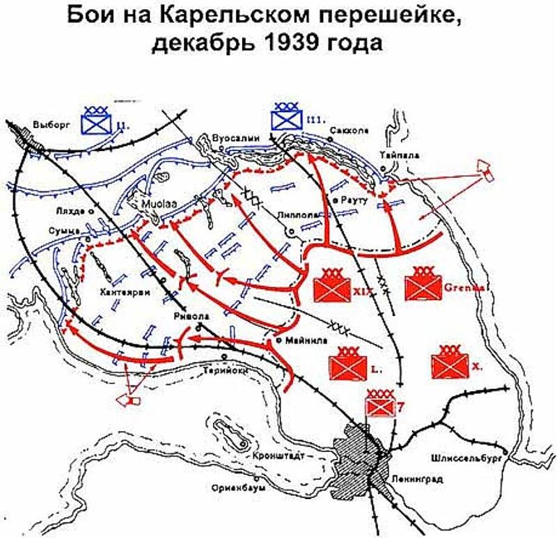 Бои на Карельском перешейке, декабрь 1939 года