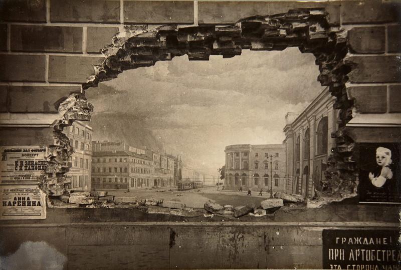 Панорама Обстрел Невского проспекта