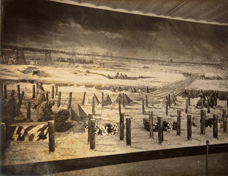 Зал Ленинград в период голодной блокады. Панорама Дорога жизни.