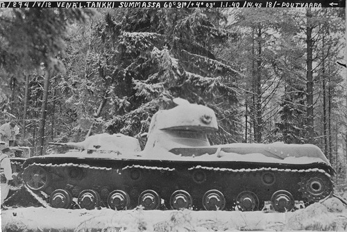 Подорвавшийся на фугасе в районе Суммы опытный образец экспериментального тяжёлого танка СМК