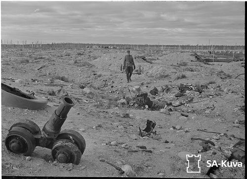 Остатки советского Т-28 у «Форта Поппиуса» 1941.09.26