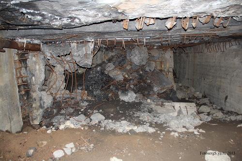 Разрушения в центральной части
