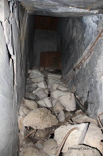 Лестница, ведущая к НП (бронеколпаку)